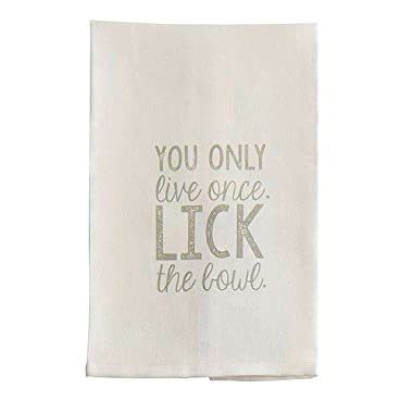 Mud Pie 4403009L Hand Towel, 26 x 16.5, White