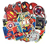#4: DOFE Car Stickers 50 pcs, Laptop Stickers,Motorcycle Bicycle Luggage Decal Graffiti Patches for Teens (Super Hero Stickers 50 pcs)