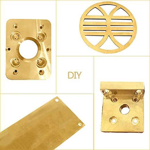 SQINAA Brass Flat Bar H62 Material Materials Workable 1Pcs Workable for Crafts Metalworking DIY,5mm