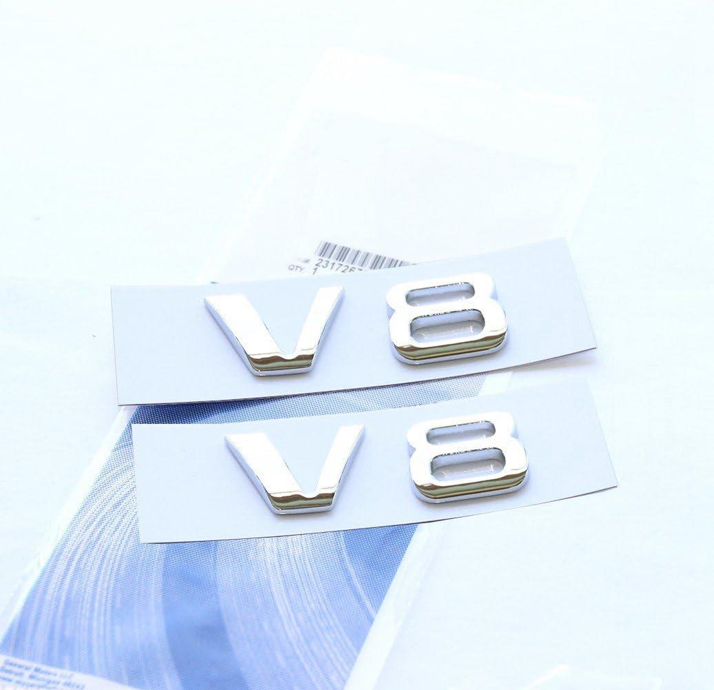 Yoaoo 1x OEM Chrome V8 Nameplate Side Door Emblem Badge 3D Logo for Gmc V 8 Silverado Sierra Tahoe Malibu IMPALA Colorado 1500 Chrysler