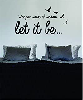 let it be version 6 the beatles quote decal wall vinyl art sticker music