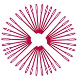 MagiDeal 1000 Pieces Plastic Sewing Needles for Kids Wool Cross Stitch Knitting Crochet Rose Red