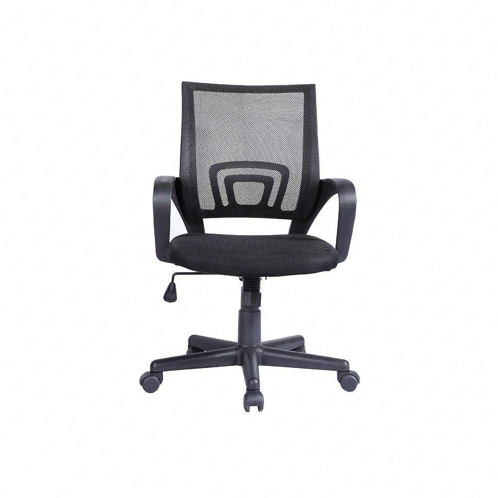 Adjustable Mesh Office Chair, Ergonomic Midback Swivel Computer Desk Chair Task Chair with Arms(1 Black)