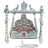 Fashionbonanzamart Handicrafted Silver Krishna/Kanha / Ladoo Gopal Jhula/Swing for Janmashtami