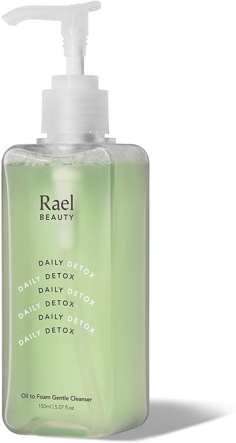 Rael Oil to Foam Cleanser - Non-Stripping Face Wash, Hydrating Olive Oil and Soothing Vitamin B5, Oil-Based Cleanser, Clean Ingredients for All Skin Types, Vegan Natural Skincare (5.07oz, 150ml)