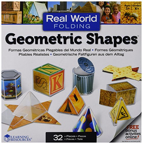 Learning Resources LER4356 Real World Folding Geometric Shapes (Pack of 16) ()