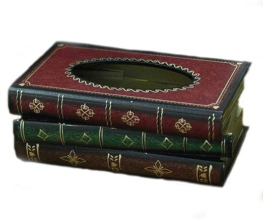 Caja de pau00f1uelos Retro Libro de simulaciu00f3n Europeo Pintado ...