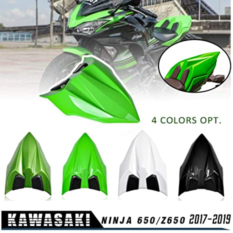 NINJA 650 Z650 17 18 19 Accessories Rear Seat Cowl Fairing Cover Cowl ABS Plastic Green Black White for Kawasaki NINJA650 Z 650 2017 2018 2019 (Black)