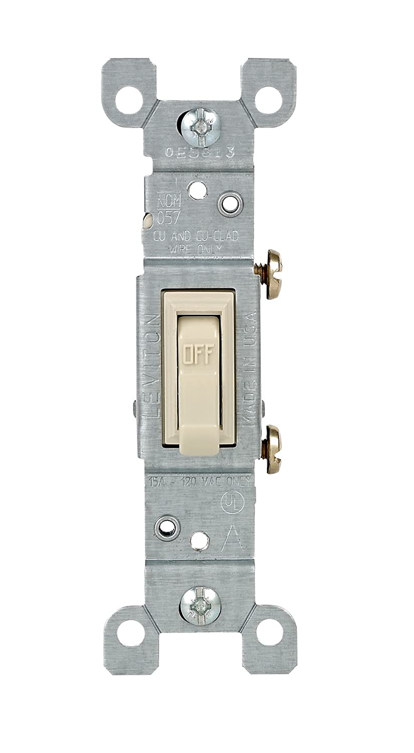 Leviton 1451-2WM 15 Amp, 120 Volt, Toggle Framed Single-Pole Ac ...