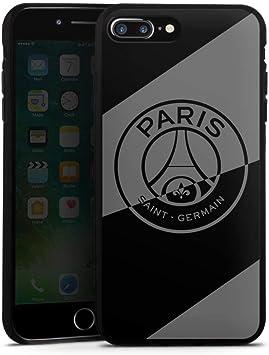 DeinDesign Coque en Silicone Compatible avec Apple iPhone 7 Plus Étui Silicone Coque Souple Logo PSG Paris Saint-Germain