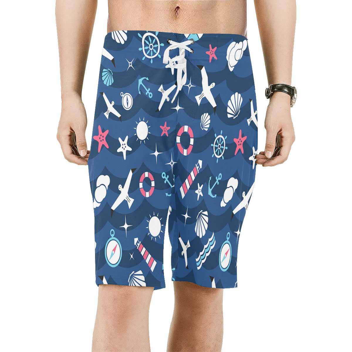 XS-6XL INTERESTPRINT Mens Swim Trunks Quick Dry Anchor Sea Ocean Wave Swimwear Board Shorts