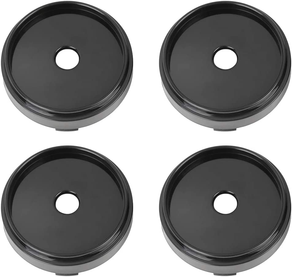 X AUTOHAUX 66mm Dia 6 Clips Car Wheel Tyre Center Hub Caps Base Black 4 Pcs