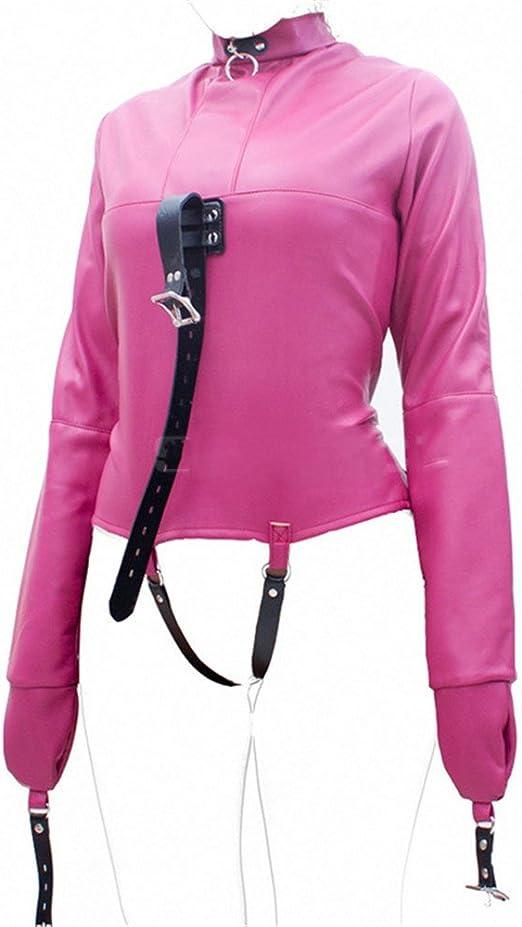 smithlovers patentes piel disfraz de camisa de fuerza restriants mujeres hombres Bodies para bondage - Rosado -: Amazon.es: Ropa y accesorios