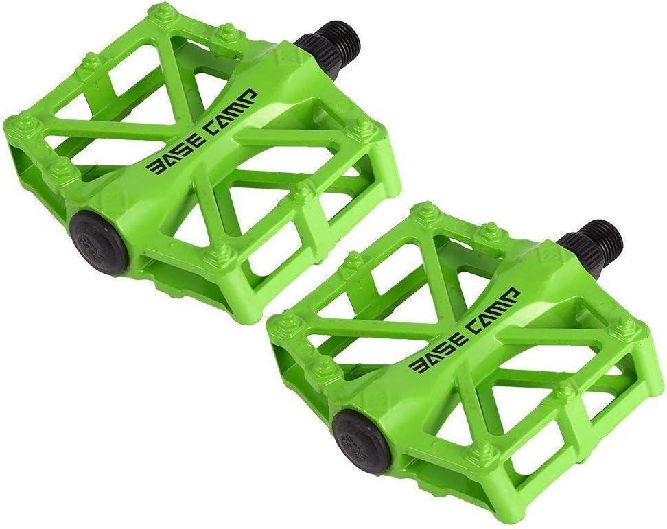 zjchao Pedales para Bici BMX Bicicleta de montaña MTB Ciclismo de Carreras Ultraligero Pedal de aleación