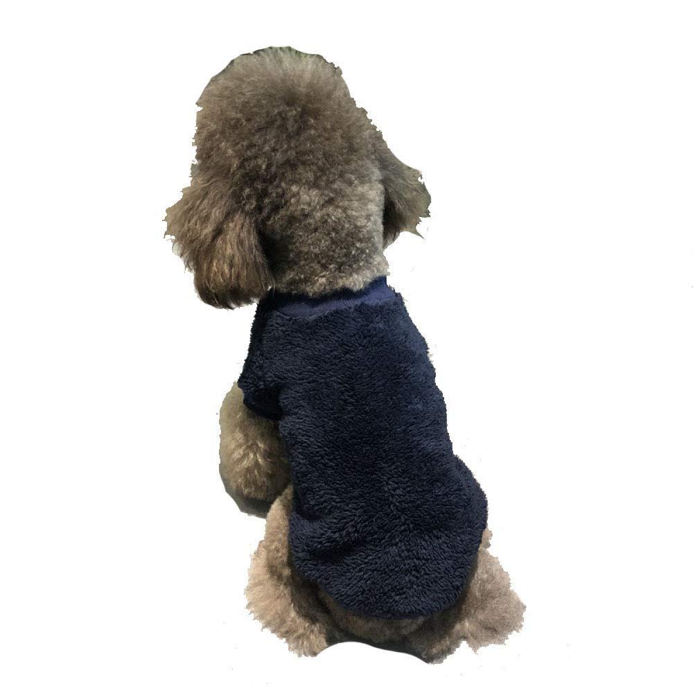 JHC Vestiti per Cani Vestiti Caldi Imbottiti Adatti per Cani di Piccola Taglia Vestiti Adatti per Busto 35-62cm (Nero + Bianco, S, M),blu-S
