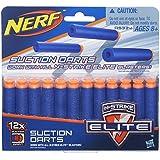 Refil Nerf Elite 12 Dardos Sucção Hasbro Azul