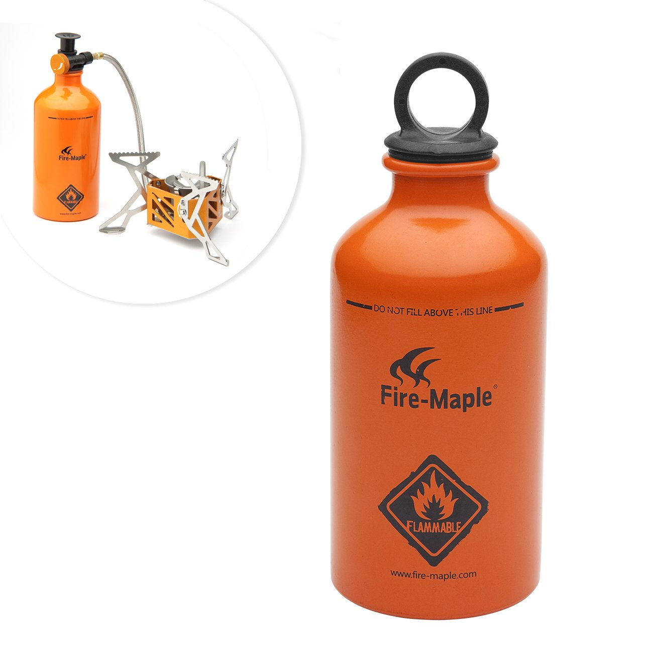 Fire-Maple FMS-B330 botella de combustible gasolina para horno hornillo estufa de aluminio 330ML: Amazon.es: Electrónica