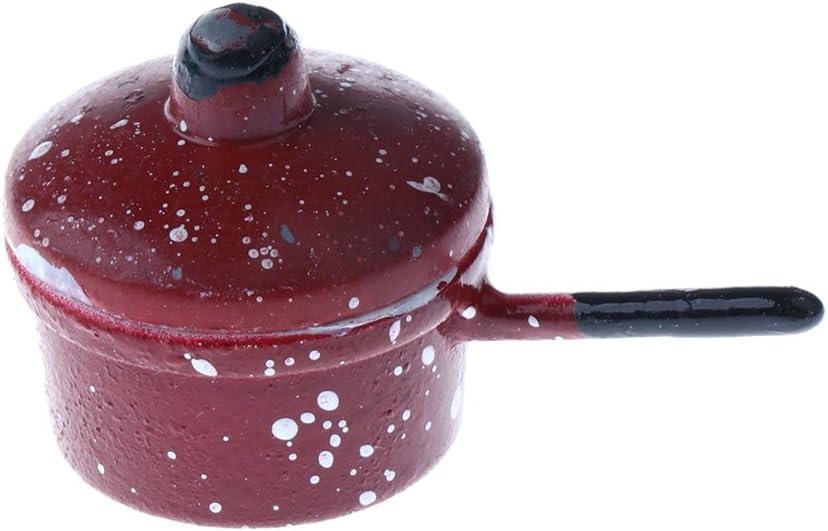 1//12 Scale Dollhouse Miniature Kitchen Cookware 3pcs Metal Spotted Pan Decor