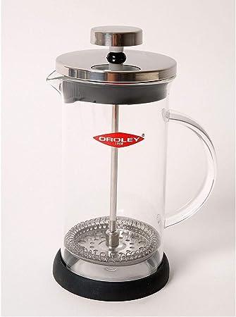 Oroley - Cafetera Francesa Spezia | de Émbolo | de Acero Inoxidable y Cristal | 3 Tazas | Para Café y Té | 350ml: Amazon.es: Hogar