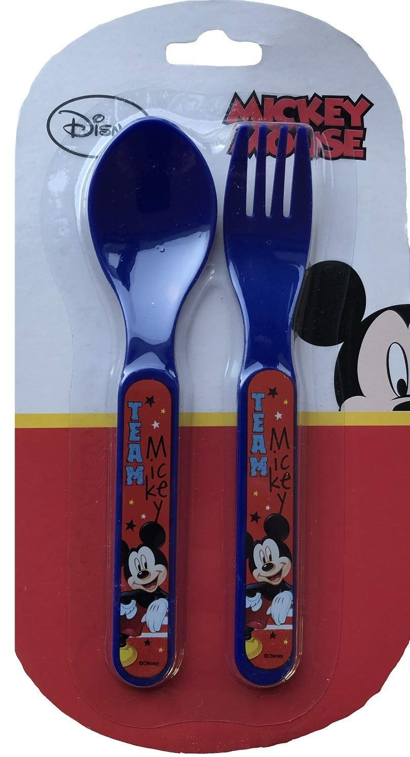 Donald Duck /& Pluto Disney Youth Stainless Spoons// Fork 3pc Set Mickey Mouse