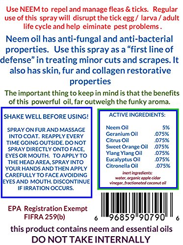 SIT  STAY  FOREVER  SAFETY FIRST PET PRODUCTS Organic Neem & Essential Oils  Bug Spray for Horse  32oz Non-Toxic Made in The USA