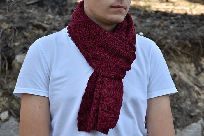 Amazon.com: merino wool mans knit scarf, women\'s scarf, winter scarf ...