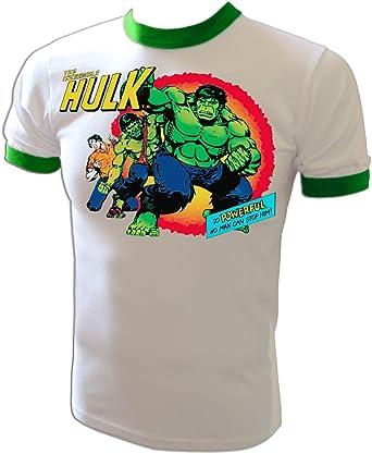 Marvel Comics bleu Design original sous licence T-shirt pour enfant Hulk T-shirt /à col rond de Logoshirt The Incredible