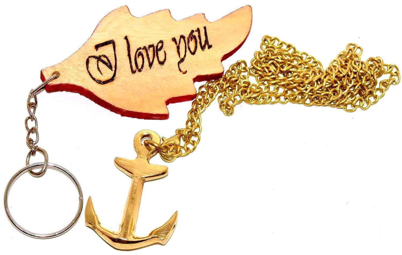 Amazon.com: Nautical World - Llavero vintage de latón ...