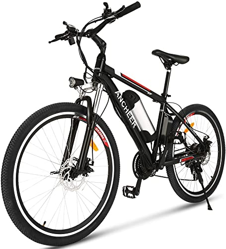 ANCHEER 26 Electric Mountain Bike with 36V 8AH Removable Lithium-Ion Battery