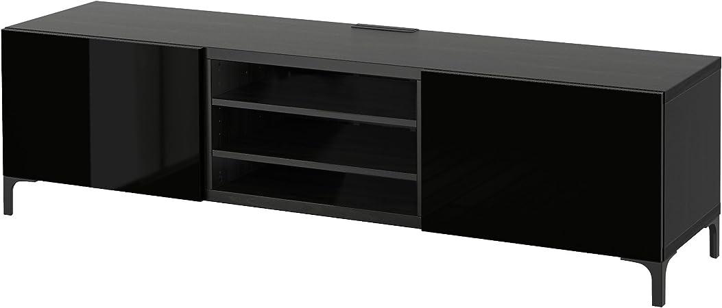 Zigzag Trading Ltd IKEA BESTA - Mueble TV con cajones Negro-marrón ...