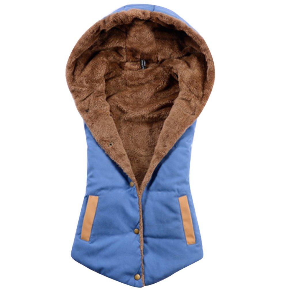 YOUJIA Womens Hooded Padded Gilet Bodywarmer Ladies Body Warmers Down Gilets for Women Body Warmer with Hood Sleeveless Jacket