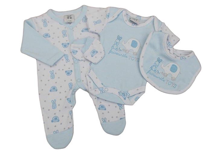 aed8baf9ae97 with Tags Tiny Babyboys Premature 4 Piece Bunny Blue Elephant ...