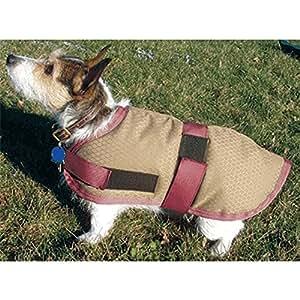 "BLANKET DOG INSULATED BEIGE/BURGUNDY-BEIGE 24"""
