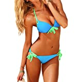 VOWSVOWS Sexy Maillot de Bain Femme Bikini 2 Pieces Push Up