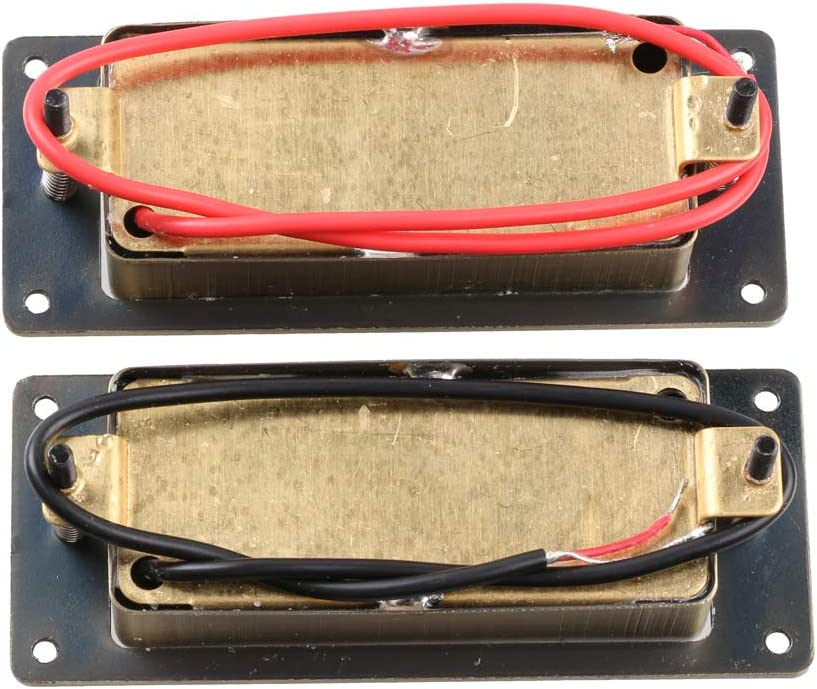 Chrome LYWS Noiseless Mini Humbucker Pickup Guitar Pickup Set Bridge and Neck for LP Les Paul Guitar