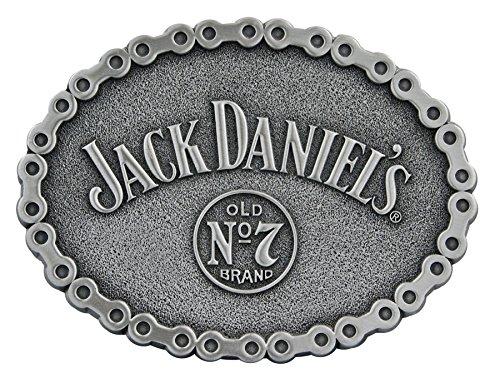 - Jack Daniels Brand Bike Chain Pattern Belt Buckle - 5062JD