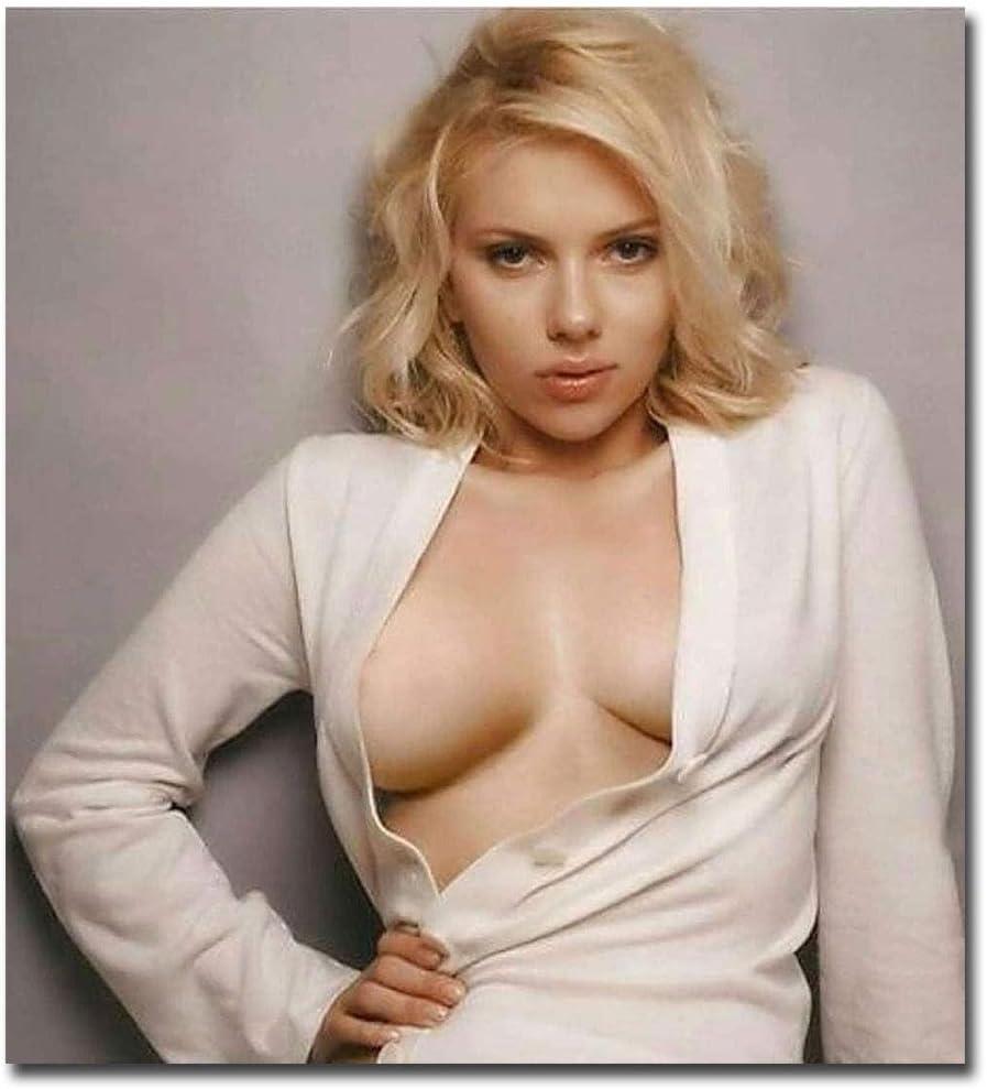 "Scarlett Johansson Sexy Open Shirt Refrigerator Magnet Size 3.8"" x 3.5"""