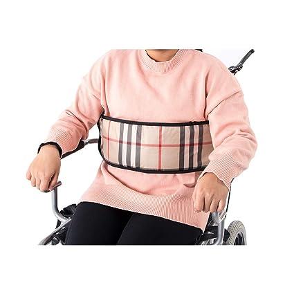 Cinturón de asiento para silla de ruedas, correas ajustables para la cintura, arnés de