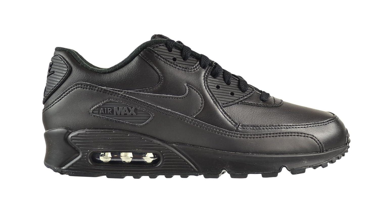 d88130d169 NIKE Air Max 90 Leather Black/Black Mens Fashion Shoes 302519-001 (7.5 M):  Amazon.co.uk: Shoes & Bags