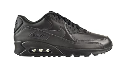 Nike Air Max 90 Leather Men's Shoes BlackBlack 302519 001