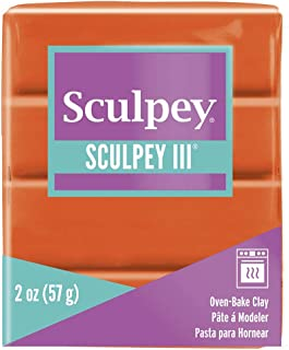 product image for Polyform Sculpey III Polymer Clay, 2-Ounce, Just Orange