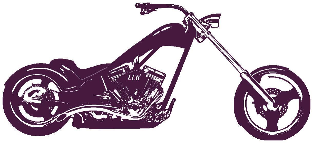 Samunshi® Wandtattoo Chopper Wandaufkleber in 10 Größen und 19 Farben (120x54cm schwarz) B013EKQBPA Wandtattoos & Wandbilder