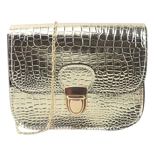piccolo modello borsa borsa coccodrillo PU spalla Oro Amlaiworld Moda pell tote Donna nBB4HAO