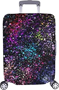 Star Field Galaxy Space Nebulae Abstract Stock Illustration Pattern Spandex Trolley Case Travel Luggage Protector Suitcase Cover 28.5 X 20.5 Inch