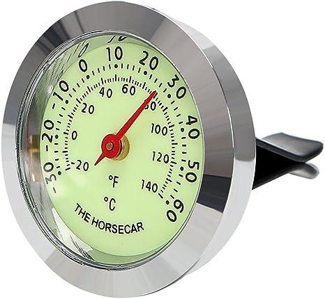 Itimo Auto Ornaments Luminous Thermometer Hygrometer Auto Innen Zubehör Automarke Air Vent Clip Dekoration Auto