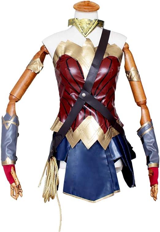 BLL Wonder Woman Diana Cosplay de PU Cuero Ropa, Disfraz de ...