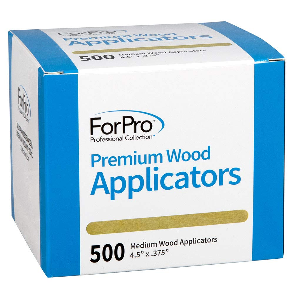 """ForPro Premium Wood Applicators, Non-Sterile, for Hair Removal Waxing, Medium, 4.5"""" L x .375"""" W, 500-Count"""