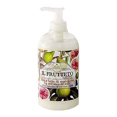 Nesti Dante il Frutteto higo y jabón de leche de almendras, líquido, 500 ml
