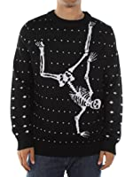 Men's Break Dancing Skeleton Ugly Sweater by Tipsy Elves