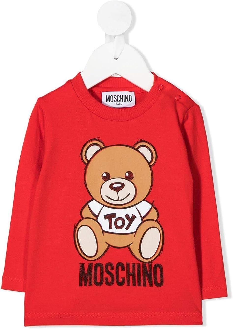 MOSCHINO BABY Maglia MVO000LBA11 Rossa Teddy Disegnato Autunno Inverno 2020 2t
